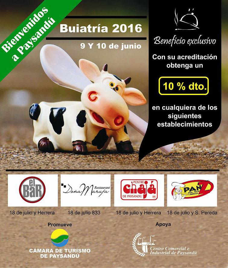 Beneficios para asistentes a Buiatría 2016