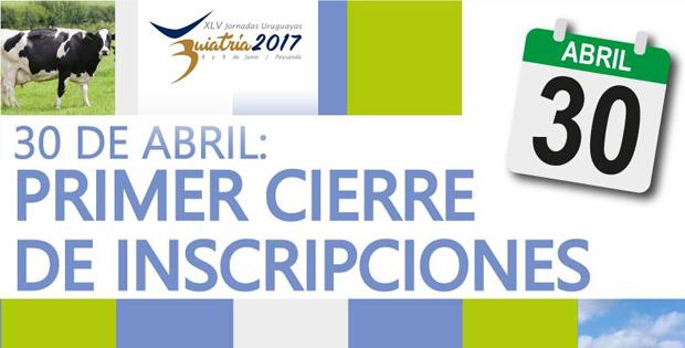 Últimos días para el primer cierre de inscripciones en Buiatría 2017