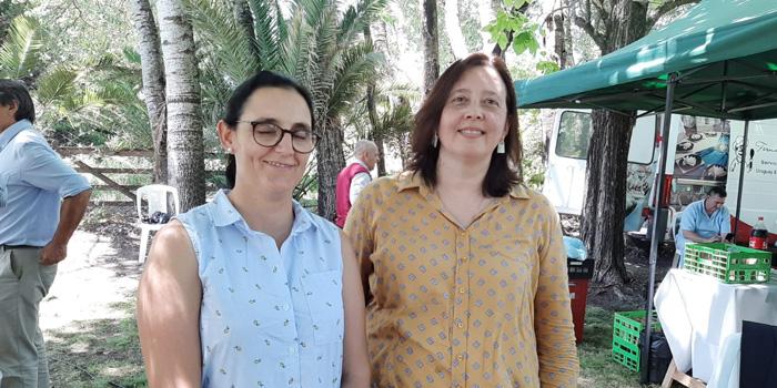 Doctoras Lourdes Adrien y Gloria Arnaud del comité organizador de Buiatria